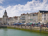 Restaurants Lining the Edge of the Marina in the Port of La Rochelle, Charente-Maritime, France Photographic Print by Stuart Hazel