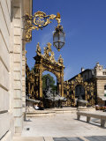 Gilded Wrought Iron Gates, Place Stanislas, Nancy, Lorraine, France Photographic Print by Richardson Peter