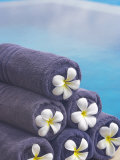 Towels on the Swimming Pool, Maldives, Indian Ocean Photographic Print by Papadopoulos Sakis