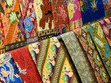 Silk Scarves, Chatuchak Weekend Market, Bangkok, Thailand, Southeast Asia Photographic Print by Porteous Rod