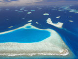 Aerial View of North Male Atoll, Maldives, Indian Ocean Photographic Print by Papadopoulos Sakis