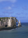 Cliffs and Rock Arch, known as the Falaises, on the Coast Near Etretat, Haute Normandie, France Photographic Print by Merten Hans Peter