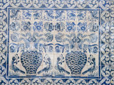 Medieval Tilework Evora University, Evora, Alentejo, Portugal, Europe Photographic Print by White Gary