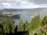 Sete Citades Lake, Sao Miguel Island, Azores, Portugal, Europe Photographic Print by De Mann Jean-Pierre