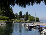 Marina, Quai Baron De Blonay, Evian-Les Bains, Lake Geneva, Haute-Savoie, France Photographic Print by Richardson Peter