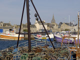 Roscoff Harbour, North Finistere, Brittany, France, Europe Photographic Print by De Mann Jean-Pierre