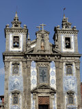 Sao Ildefonso Church, Built 1730 -1737 Decorated with Azulejos, Praca Da Batalha, Porto, Portugal Photographic Print by De Mann Jean-Pierre