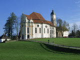 Wieskirche Near Steingaden, Bavaria, Germany, Europe Photographic Print by Merten Hans Peter