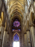Stained Glass Rose Window, Notre-Dame Cathedral, Reims, Marne, Champagne-Ardenne, France Photographic Print by Richardson Peter
