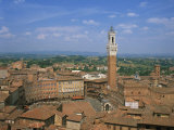 Piazza Del Campo and Houses on the Skyline of the Town of Siena, Tuscany, Italy Photographic Print