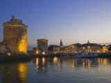 St. Nicholas and La Chaine Towers, La Rochelle, Charente-Maritime, France Photographic Print by Stuart Hazel