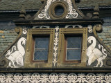 Heraldic Birds Flank a Window at Frydlant Castle in North Bohemia, Czech Republic, Europe Photographic Print by Strachan James