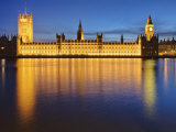 Houses of Parliament at Dusk Reflected in the River Thames, Westminster, London, England, UK Photographic Print by Edwardes Guy