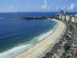 Aerial of Copacabana Beach in Rio De Janeiro, Brazil, South America Photographic Print by Merten Hans Peter