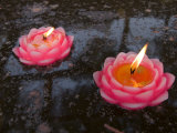 Candle Floating in Dafo Temple, Leshan, Sichuan, China Photographic Print by Porteous Rod