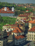 Buildings Including the Strahov Monastery Seen from St. Vitus Cathedral, Prague, Czech Republic Photographic Print by Strachan James