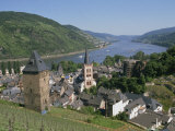 Aerial View over the Town of Bacharach and the Rhine River, Rhineland, Germany, Europe Photographic Print by Merten Hans Peter