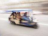 Motorised Rickshaw Ferrying Tourists around Krakow, Poland, Europe Photographic Print by Edwardes Guy