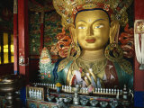 Maitreya Statue, 15M Tall, Tikse Gompa, Ladakh, India Photographic Print by Strachan James