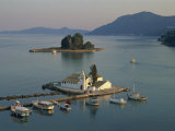 Vlachema Monastery and Pontikonissi, Corfu, Ionian Islands, Greek Islands, Greece, Europe Photographic Print by Merten Hans Peter