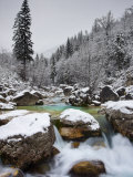 Soca River in Winter, Soca, Triglav National Park, Julian Alps, Slovenia, Europe Photographic Print by Edwardes Guy