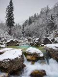 Soca River in Winter, Soca, Triglav National Park, Julian Alps, Slovenia, Europe Photographic Print by Edwardes Guy