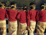 Mon Girls in Traditional Dress, Yangon, Myanmar Photographic Print by Strachan James
