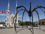 Maman Sculpture, in Front of the Cathedral and Basilica of Notre Dame, Ottawa, Ontario, Canada Photographic Print by De Mann Jean-Pierre