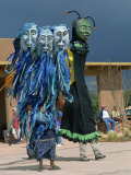 Wise Fool of New Mexico, Giant Puppets, Milner Plaza, Santa Fe, New Mexico, USA Photographic Print by Westwater Nedra