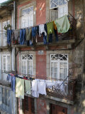 Tenement Housing, Rua De Miragaia, Douro Riverfront, Oporto, Portugal, Europe Photographic Print by White Gary