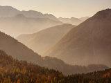 Vrsic Pass in Autumn, Triglav National Park, Julian Alps, Slovenia, Europe Photographic Print by Edwardes Guy