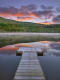 Mollys Falls Pond at Sunset, Vermont, New England, United States of America, North America Photographic Print by Edwardes Guy