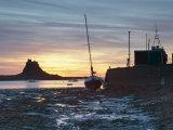 Sunrise at Lindisfarne, Holy Island, Northumberland, England, United Kingdom, Europe Photographic Print by Wogan David