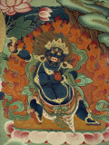 Tantric Mural at Ganden, Tibet, China Photographic Print by Strachan James