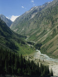 Ala-Archa Canyon in the Tien Shan Mountains in Kyrgyzstan, Central Asia Photographic Print by Strachan James