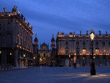 Evening Floodlit View of Place Stanislas and the Cathedral, Nancy, Lorraine, France Photographic Print by Richardson Peter