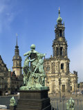 Hofkirche, Dresden, Saxony, Germany, Europe Photographic Print by Merten Hans Peter