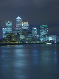 Canary Wharf, Docklands, Viewed from Wapping, London, England, United Kingdom, Europe Photographic Print by Wogan David