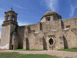 Walls, Bell Tower and Dome of the San Jose Mission, at San Antonio, Texas, USA Photographic Print by Alison Wright