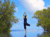 Yoga Meditation, Full Moon Island, Male Atoll, Maldives, Indian Ocean Photographic Print by Papadopoulos Sakis
