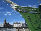 Rickmer Rickmers in Harbour, Hamburg, Germany, Europe Photographic Print by Merten Hans Peter