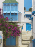 Sidi Bou Said, Tunisia, North Africa, Africa Fotografisk tryk af Papadopoulos Sakis