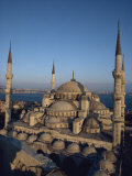Blue Mosque at Dusk, Istanbul, Turkey, Europe Photographic Print by Wilson John Henry Claude