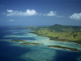 Aerial View over Yasawa Island, Fiji, Pacific Islands, Pacific Photographic Print by Strachan James