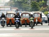 Traffic Including Tuk-Tuk or Bajaj, Jakarta, Java, Indonesia, Southeast Asia Photographic Print by Porteous Rod