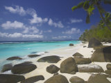Rocks on Tropical Beach, Seychelles, Indian Ocean, Africa Photographic Print by Papadopoulos Sakis
