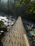 Wooden Bridge over River, Ranong, Thailand, Southeast Asia Photographic Print by Porteous Rod