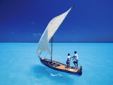 Sailing with Traditional Dhoni, North Male Atoll, Maldives, Indian Ocean Photographic Print by Papadopoulos Sakis