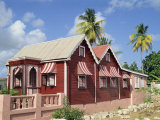 Chattel House, Speightstown, Barbados, West Indies, Caribbean, Central America Photographic Print by Merten Hans Peter