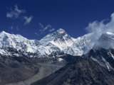 Snow-Capped Mount Everest, Seen from the Nameless Towers, Himalaya Mountains, Nepal Photographic Print by Wright Alison